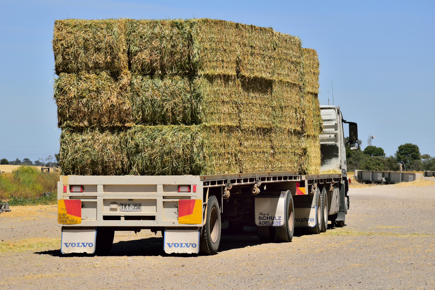 Hay bales on a truck